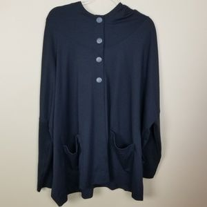 Catherine Malandrino Cape Hoodie Ponte Jacket XL